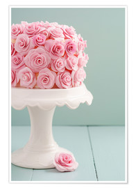 Póster  Cake with roses made of sugar - Elisabeth Cölfen