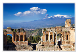 Póster  Greek theater of Taormina, Sicily, Italy - Circumnavigation