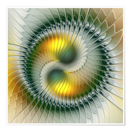 Póster  Like Yin and Yang Abstract Fractal Art - gabiw Art