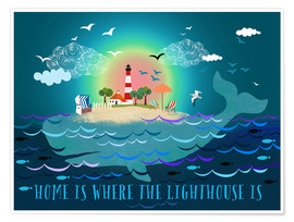 Póster  Home is where the lighthouse is - Elisandra Sevenstar