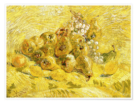 Póster  Quinces, Lemons, Pears and Grapes - Vincent van Gogh