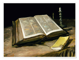 Póster Still Life with Bible