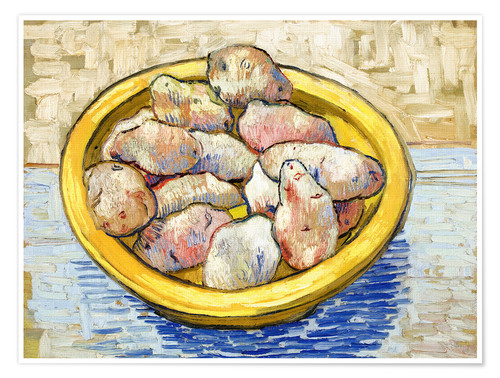Póster Potatoes in yellow bowl