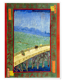 Póster  The Bridge in the Rain (after Hiroshige) - Vincent van Gogh
