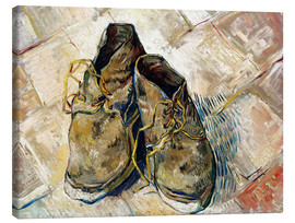 Lienzo  A Pair of Shoes - Vincent van Gogh