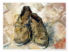 Póster  A Pair of Shoes - Vincent van Gogh