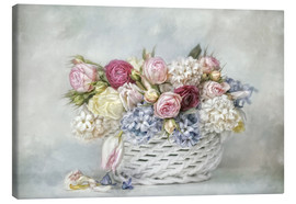 Lienzo  a basket full of spring - Lizzy Pe
