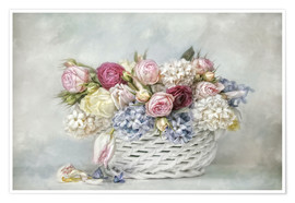 Póster  a basket full of spring - Lizzy Pe