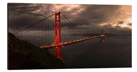 Aluminio-Dibond  Golden Gate mystical brown - Michael Rucker