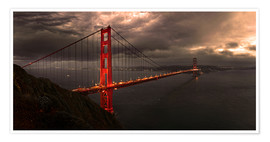 Póster  Golden Gate mystical brown - Michael Rucker