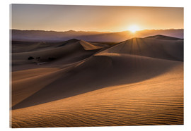Cuadro de metacrilato  Sunset at the Dunes in Death Valley - Andreas Wonisch
