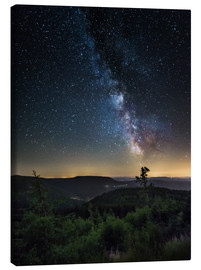 Lienzo  Milky Way over Black Forest - Andreas Wonisch