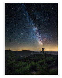 Póster  Milky Way over Black Forest - Andreas Wonisch