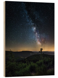 Cuadro de madera  Milky Way over Black Forest - Andreas Wonisch