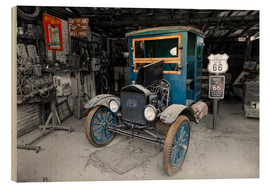Cuadro de madera  Route66 Old Ford TT - Michael Rucker