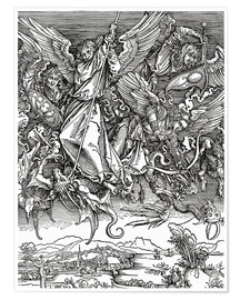 Póster  Michael Slaying the Dragon - Albrecht Dürer