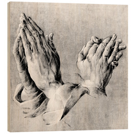 Cuadro de madera  Hands of the Pope and an apostle - Albrecht Dürer