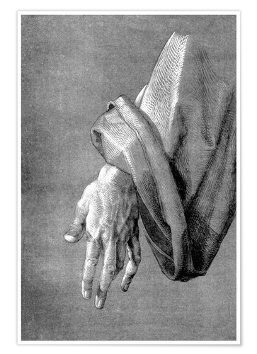 Póster Left hand of an apostle