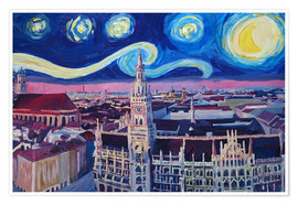 Póster Starry Night in Munich