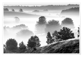 Póster Misty Dutch Hillls