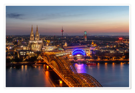 Póster  Cityscape Cologne Germany - Achim Thomae