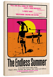 Cuadro de madera  The Endless Summer - Entertainment Collection