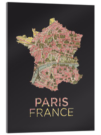 Amelia Gier - Paris France Map Silhouette