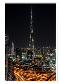 Póster  Dubai Skyline - United Arab Emirates - Achim Thomae