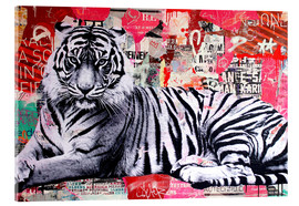 Cuadro de metacrilato  Tigre collage - Michiel Folkers