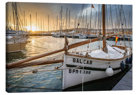 Lienzo  Historic sailboat in the port of Palma de Mallorca - Christian Müringer