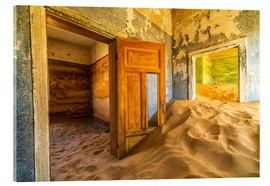 Cuadro de metacrilato  Sand in the premises of an abandoned house - Robert Postma