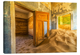 Lienzo  Sand in the premises of an abandoned house - Robert Postma