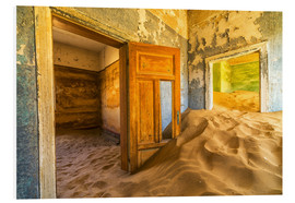 Cuadro de PVC  Sand in the premises of an abandoned house - Robert Postma