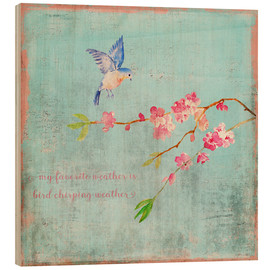Madera  Bird chirping waether Spring and cherryblossoms - UtArt
