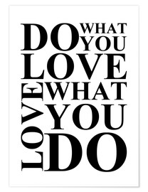 Póster Do what you love