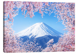 Lienzo  Mount Fuji in Japan during the cherry blossom in spring - Jan Christopher Becke