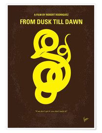 Póster No127 My FROM DUSK  DAWN miniTHISmal movie poster