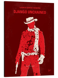 Aluminio-Dibond  No184 My Django Unchained minimal movie poster - chungkong