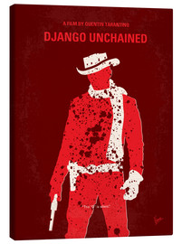 Lienzo  No184 My Django Unchained minimal movie poster - chungkong