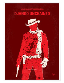 Póster  No184 My Django Unchained minimal movie poster - chungkong