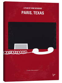 Lienzo  No062 My Paris Texas minimal movie poster - chungkong