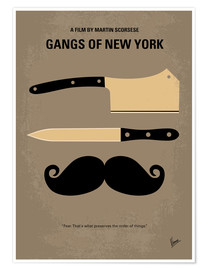 chungkong - Póster minimalista de Gangs of New York