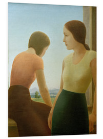 Cuadro de PVC  Two girls at the window - Georg Schrimpf