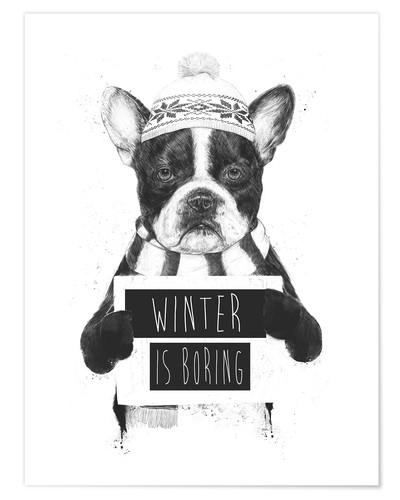 Póster Winter is boring
