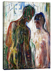 Lienzo  Cupid and Psyche - Edvard Munch