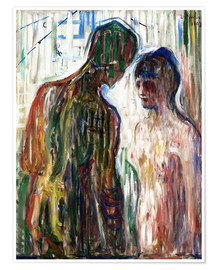 Póster  Cupido y Psyche - Edvard Munch