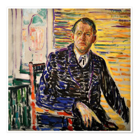 Póster Edvard Munch in the interior