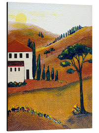 Cuadro de aluminio  Colours of Tuscany - Christine Huwer