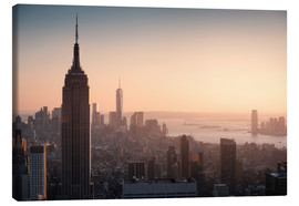 Lienzo  Sunset over NYC - Images Beyond Words