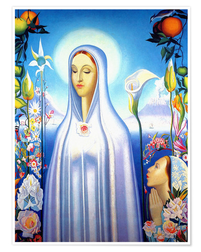 Póster Virgin of the Rose and Lily